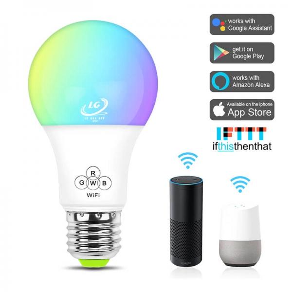 Bóng đèn thông minh LED 7 màu Wifi Tuya Q7 Công suất 7W