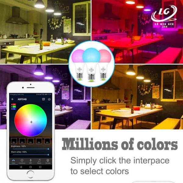 Bóng đèn thông minh LED 7 màu Wifi Tuya Q9 Công suất 10W