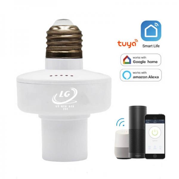 Đui bóng đèn thông minh điều khiển Wifi qua giọng nói Tuya Q10